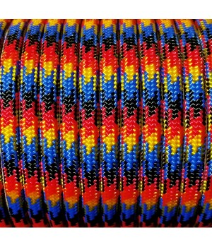 Paracord Type III 550, Flame Black&Red&Gold&Blue #147