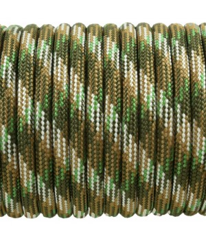 Paracord Type III 550, Camo 4 colors Olive&Coyote&SilverGrey&SwampGreen #140