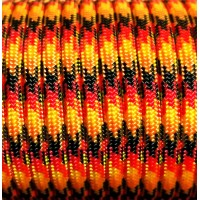 Paracord Type III 550, Flame Black&Red&Gold&Orange #148