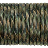 Paracord Type III 550, Camo 4 colors Olive&Coyote&Black&SwampGreen #196