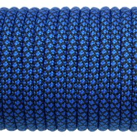 Paracord Type III 550, Grid Black&Blue #197