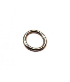 Кольцо сварное 20мм х 4мм, не разъёмное, цвет - никель