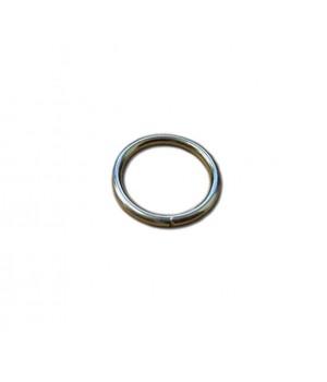 Кольцо сварное 20мм х 2,6мм, не разъёмное, цвет - никель