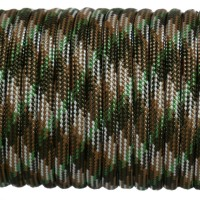 Paracord Type III 550, Camo 4 colors Olive&Coyot&SilverGrey&SwampGreen #140