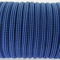 Paracord Type III 550, Strips Black&Blue #031