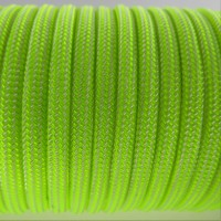 Paracord Type III 550, Strips White&LimeGreen #037