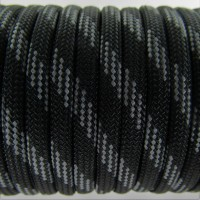 Paracord Type III 550, Six lines Black&Grey #044