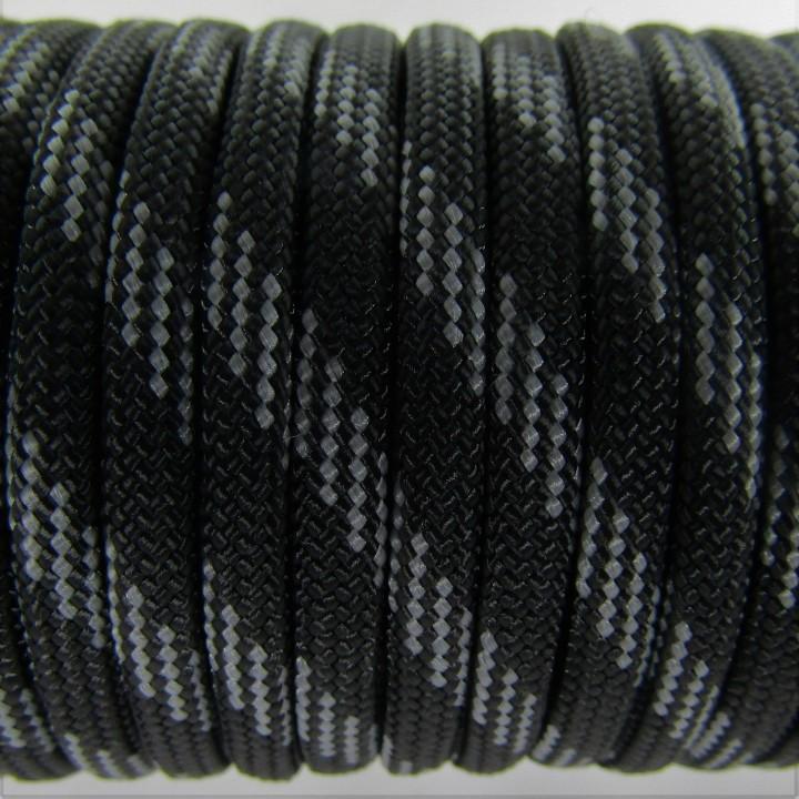 Паракорд 550 Type III , Six lines Black&Grey #044