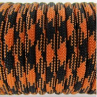 Paracord Type III 550, Camo Black&Orange #035