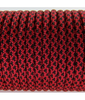 Paracord Type III 550, Leopard Red&Black #076