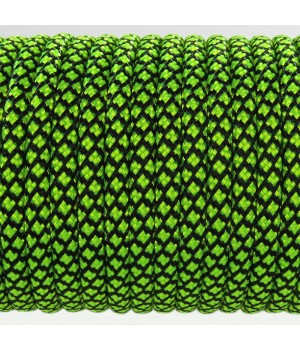 Paracord Type III 550, Grid Black&LimeGreen #080