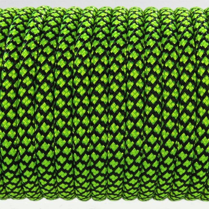 Паракорд 550 Type III 550, Grid Black&LimeGreen #080