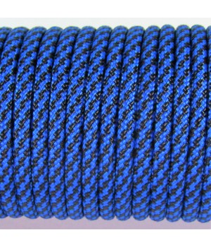 Paracord Type III 550, Spiral Black&Blue #086