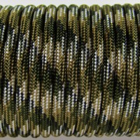 Paracord Type III 550, Camo 4 colors Olive&Coyot&SilverGrey&Black #105