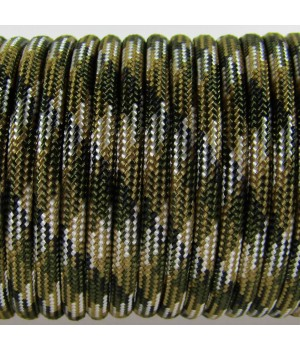 Paracord Type III 550, Camo 4 colors Olive&Coyote&Silver Grey&Black #105