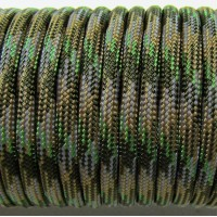 Paracord Type III 550, Camo 4 colors Olive&Coyot&Grey&SwampGreen #107
