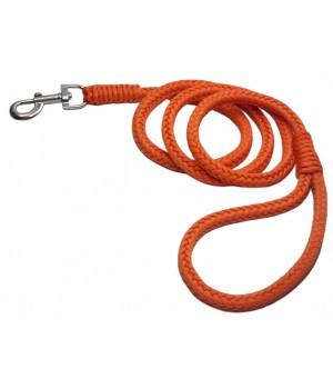 Поводок для собак, плетёный поводок из паракорда сигнальный Orange 1,5м