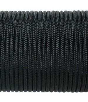 Paracord Type I 100, Simple Black #001m