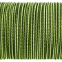 Паракорд 100 Type I, Strips Black&LimeGreen #027m