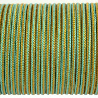 Paracord Type I 100, Strips SkyBlue&Pumpkin #173m