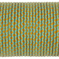 Paracord Type I 100, Grid SkyBlue&Pumpkin #176m